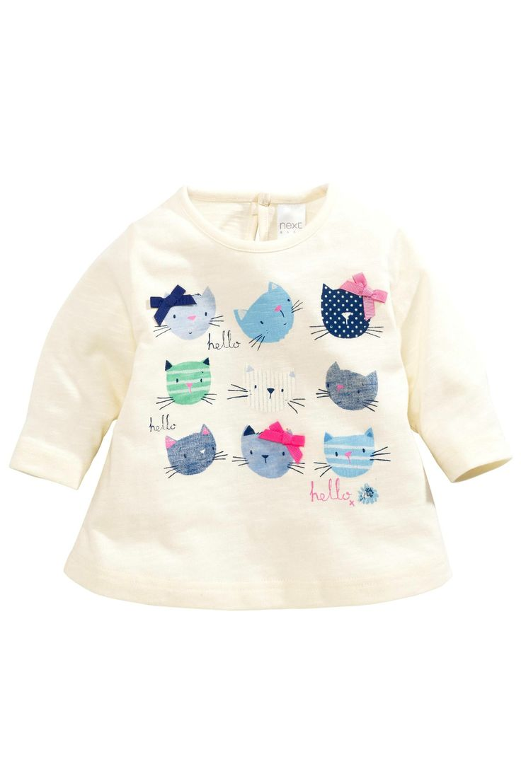 Buy Cream Cat Heads T-Shirt (0-18mths) from the Next UK online shop