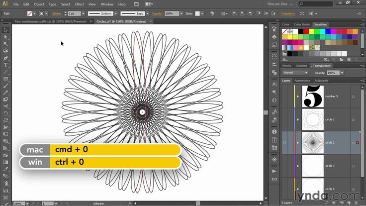 Illustrator tutorial: Creating a continuous, single-line spirograph   ly...