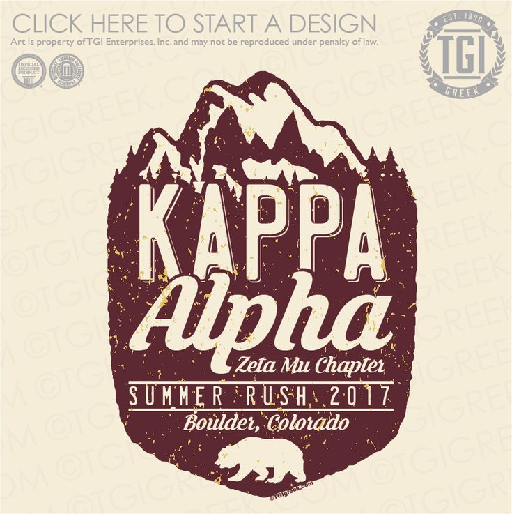 Kappa Alpha Order | KA | Summer Rush | Fraternity Rush | TGI Greek | Greek Apparel | Custom Apparel | Fraternity Tee Shirts | Fraternity T-shirts | Custom T-Shirts