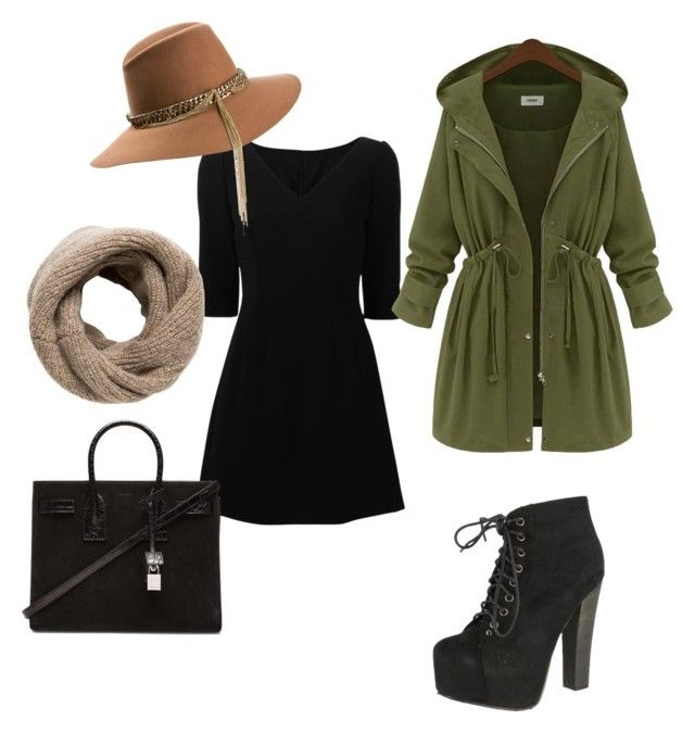 """""""Untitled #17"""" by contesa-barabas on Polyvore featuring Dolce&Gabbana, Maison Michel, Breckelle's, MANGO and Yves Saint Laurent"""