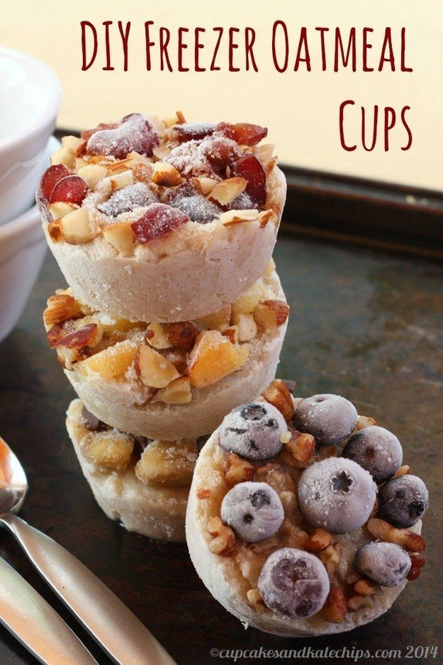 Or cook and freeze these DIY oatmeal cups. | 18 Make-Ahead Meals And Snacks To Eat Healthy Without Even Trying