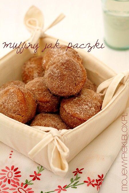 """Muffiny jak pączki (doughnut muffins) - dobre ale bez rewelacji, wg """"testerów"""" za słodkie :/"""