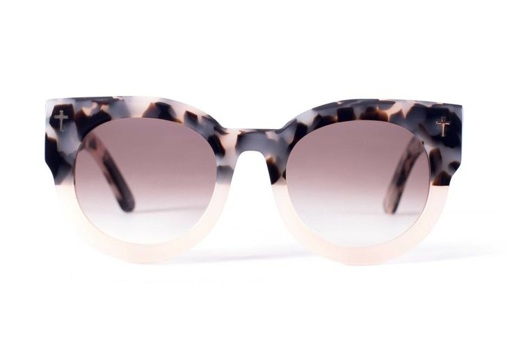 Valley Eyewear   A Dead Coffin Club sunglasses - Baby pink tortoise fading to white pearl