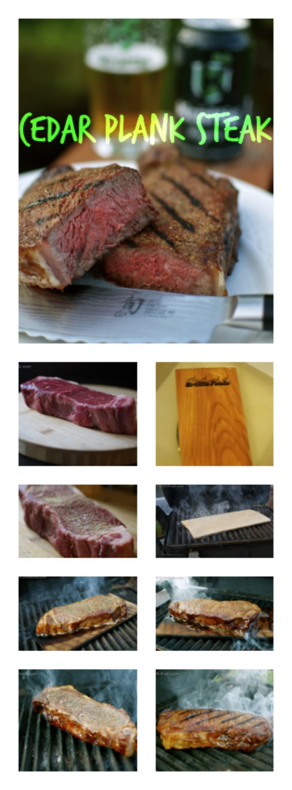 Cedar planks aren't just for salmon. Cedar plank steak is fantastic. Step by step, picture by picture, foolproof instructions on how to make cedar plank steak. | Cedar Plank Steak | https://grillinfools.com
