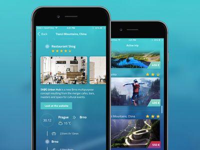 Layla - Travel App [iOS] by Martin Gorol