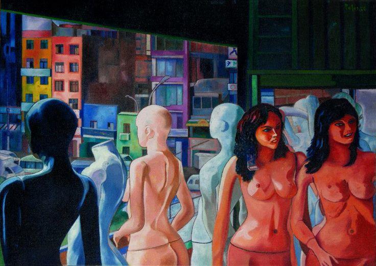 """Gamarraso (Enrique Polanco). Pintura da exposição """"Obra reciente"""", vista na Sala Luis Miró Quesada Garland, em Lima."""