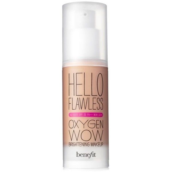 Benefit Cosmetics Pure For Sure Hello Flawless Oxygen Wow Spf 25... ($36) ❤ liked on Polyvore featuring beauty products, makeup, face makeup, foundation, pure for sure, liquid foundation, oil free liquid foundation, benefit foundation, spf foundation and moisturizing foundation