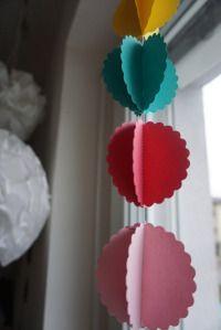 Faschingsgirlanden aus Papier DIY