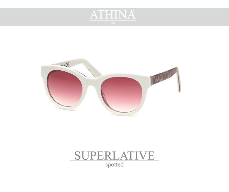 Mod. SUP1919G03 Leopard acetate of cellulose frame with unbreakable gradient pink lenses.