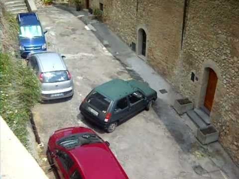 Nonno che parcheggia