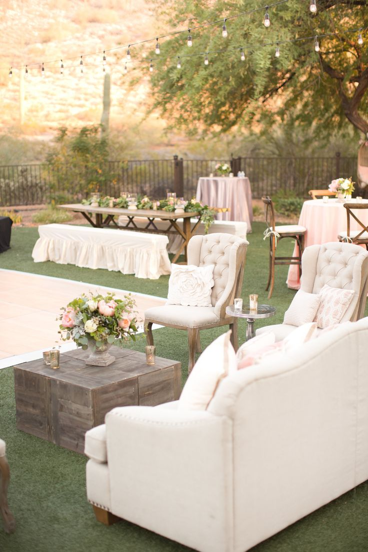 Wonderful sitting area for a reception!!  View the full wedding here: http://thedailywedding.com/2015/11/20/romantic-floral-wedding-rachel-perry/