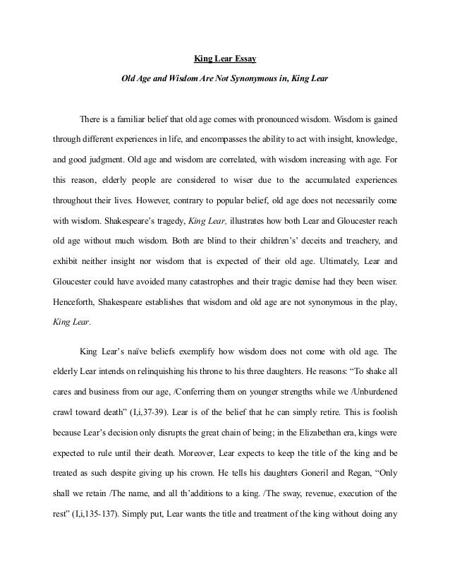 essay on take care of the old