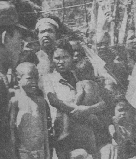 Remexio, September 1978. East Timorese internal 'refugees' under Indonesian control.