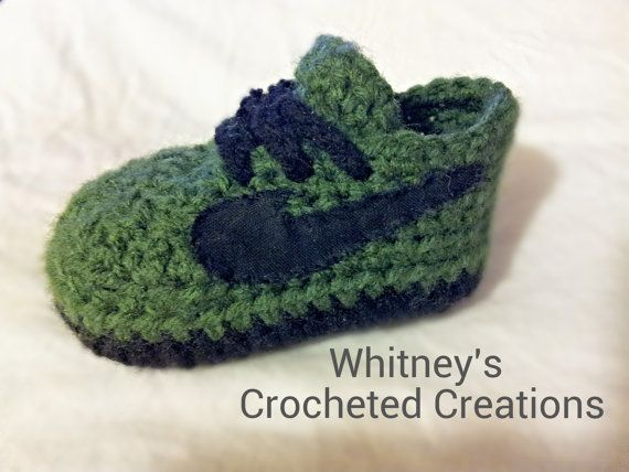 Hey, I found this really awesome Etsy listing at https://www.etsy.com/listing/198659663/nike-inspired-tennis-shoes-crochet