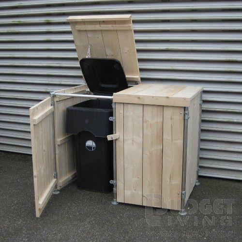 mooie containerombouw, met hout en steigerbuis.
