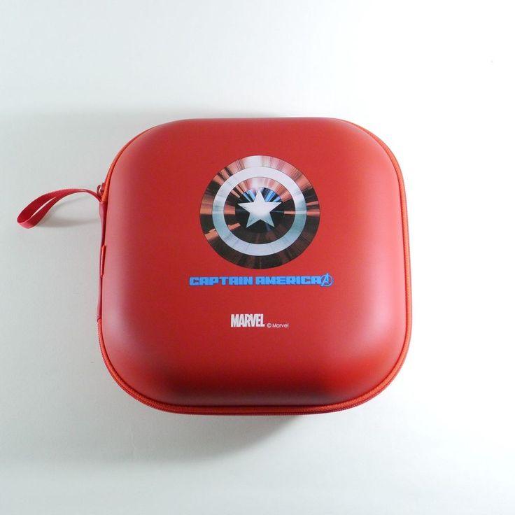 MARVEL AVENGERS Headphone Case, Hard Carrying Travel Case, Multi Big Pouch RED #MARVEL
