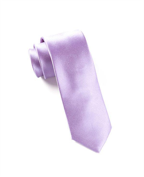 The Tie Bar Solid Lavender Necktie