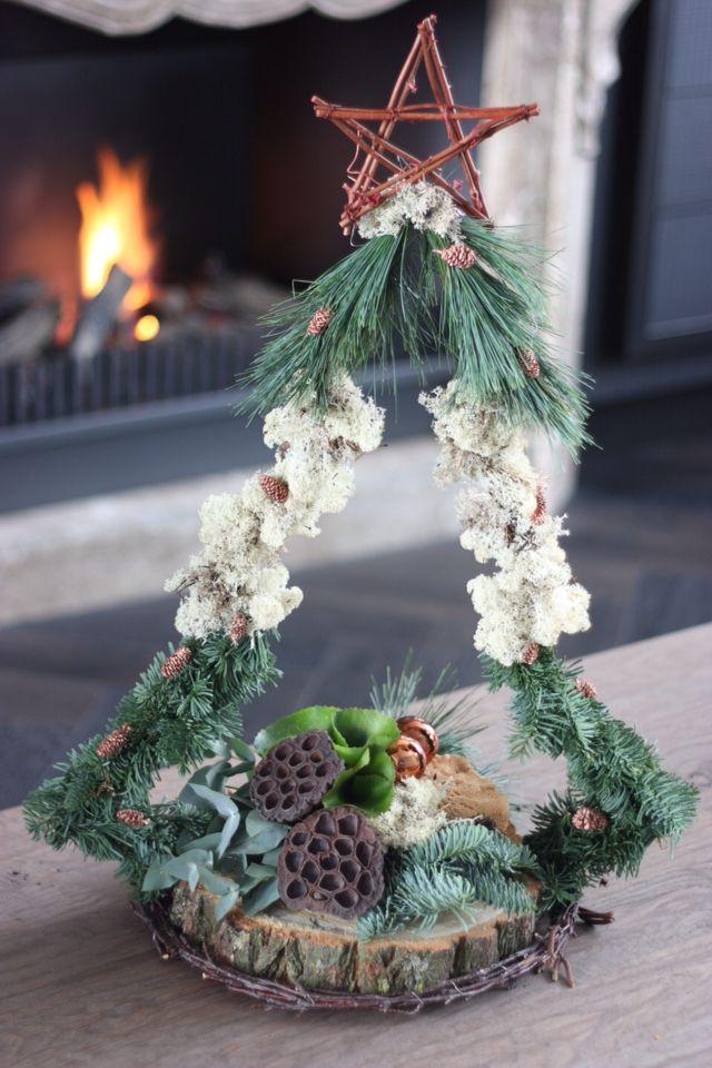 Kerstboom creatie is een workshop die gegeven wordt door CreAnoeska 25 euro of ook als compleet stuk verkrijgbaar op creanoeska.nl