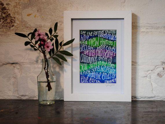 Bespoke Christian Art Gift  Original by ArtistHaideeHughes on Etsy