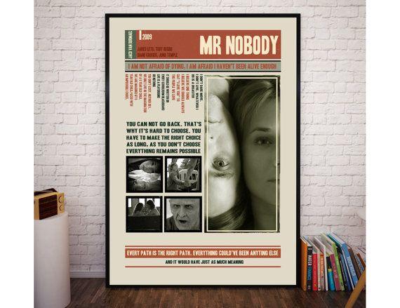 MR NOBODY Movie Poster Mr Nobody Film Quotes Retro by POTAPOTA