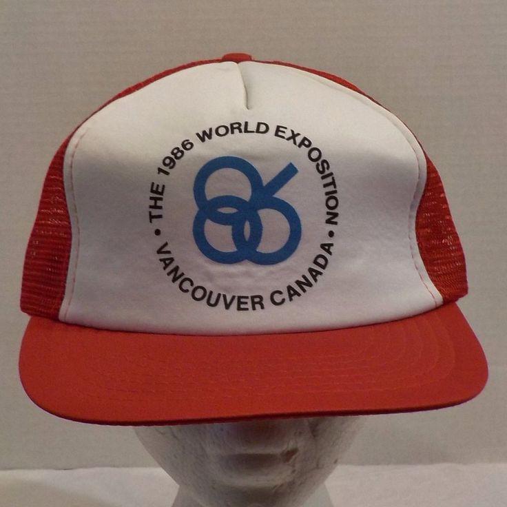 Vancouver 1986 World Exposition Snapback Baseball Truckers Hat Cap #Vancouver #BaseballCap