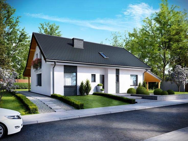 NICEA 2 - dom mieszkalny wolnostojący z poddaszem użytkowym, w technologii szkieletowej.