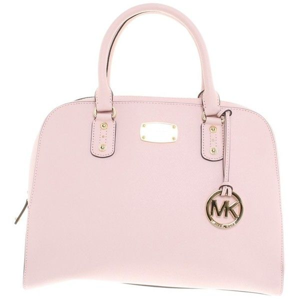 Pre-owned Handbag in pink ($195) ❤ liked on Polyvore featuring bags, handbags, pink, pink handbags, handbags bags, pre owned bags, michael kors bags and pre owned handbags