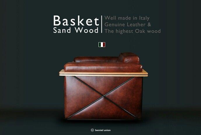 Bemiel Union_Sand Wood Sofa#Italy Leather#Mable Brown#side#3.5p www.bemiel.com