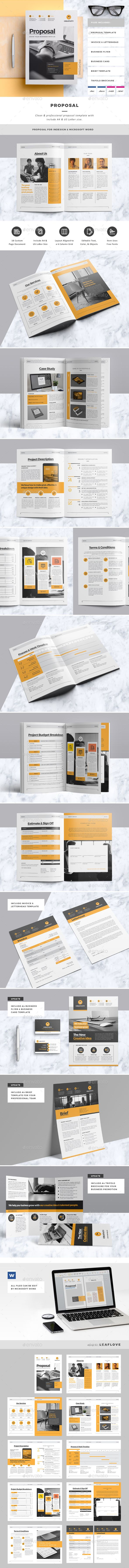 Proposal / Clean & Professional Proposal Template. This layout is suitable for any project purpose. Very easy to use and customise.