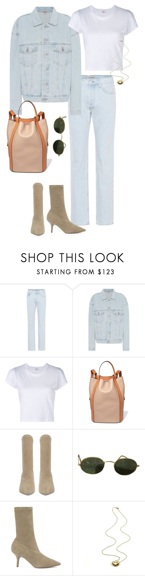 """""""27/10"""" by deborarosa ❤ liked on Polyvore featuring Yeezy by Kanye West, RE/DONE, Loewe, Ray-Ban and Tiffany & Co."""