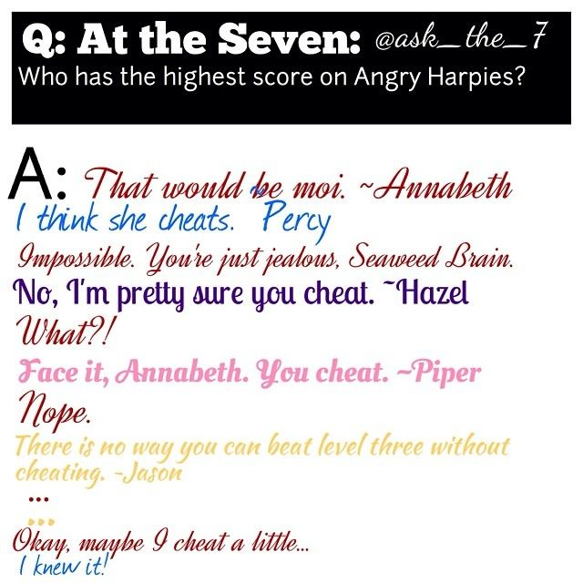 Annabeth a cheater?!?! What has the world come to!?