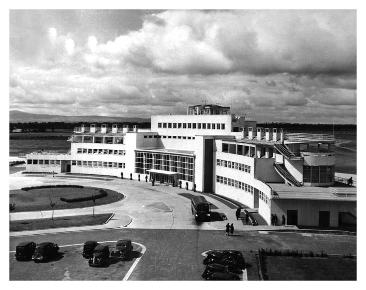 External view of Dublin Airport, Nov 1949