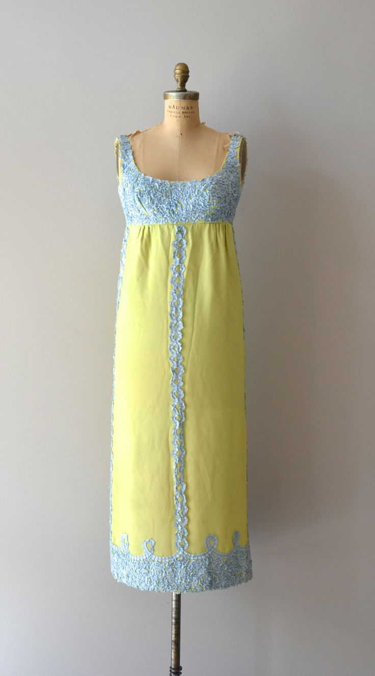 Jean Varon robe vintage années 60 années 1960 maxi par DearGolden