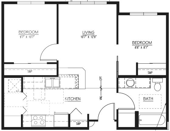 apartment floor plans eau claire wi one two bedroom