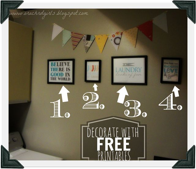 Decorating with Laundry Room Printables