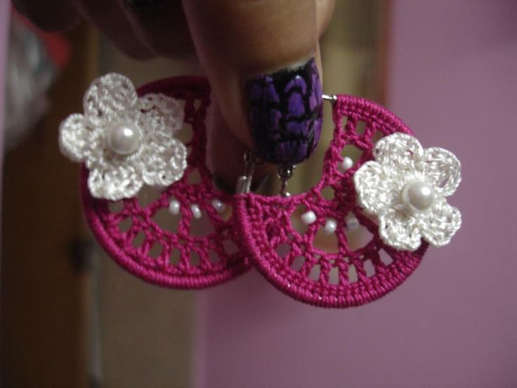 17 meilleures images propos de bijoux au crochet sur - Bijoux au crochet modele gratuit ...