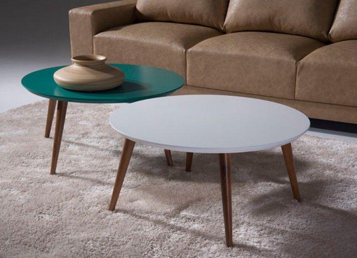 Mesa de centro redonda actual home pinterest mesas for Salas pequenas y baratas