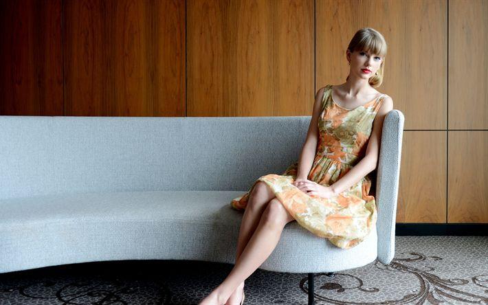 Descargar fondos de pantalla Taylor Swift, 4k, cantante Estadounidense, joven y hermosa mujer, retrato