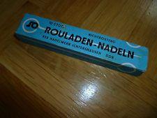 Originale Rouladen-Nadeln mit Verpackung 10 Stück VEB Ichtershausen