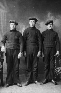 Three Scottish herring fishermen