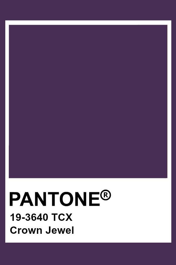 Pantone Crown Jewel Pantone Color Pantone Pantone Tcx
