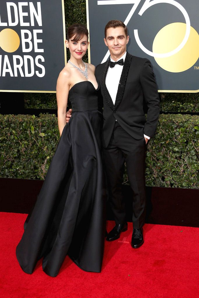 """Golden Globes 2018: Alison Brie and Dave Franco Won """"Cutest Couple""""   Tom + Lorenzo"""