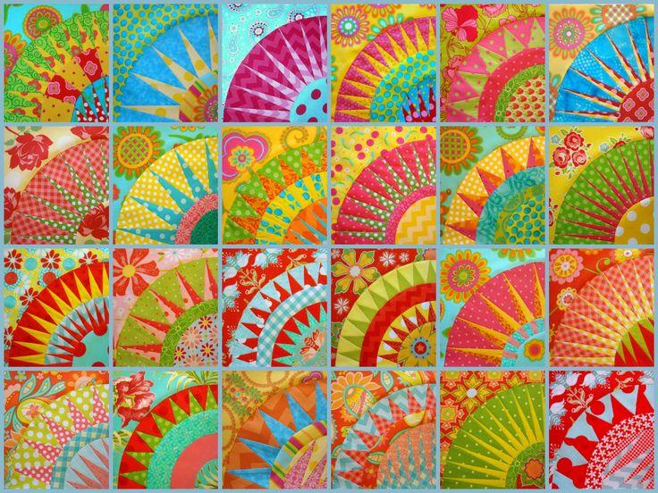 24 block collage...Oklahoma Beauty quilt blocks - 6 more blocks to go!
