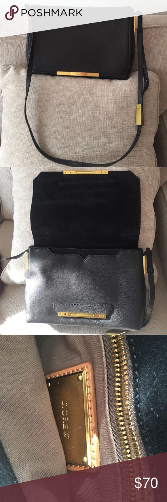 J Crew leather messenger bag, medium size, black Like new J. Crew Bags