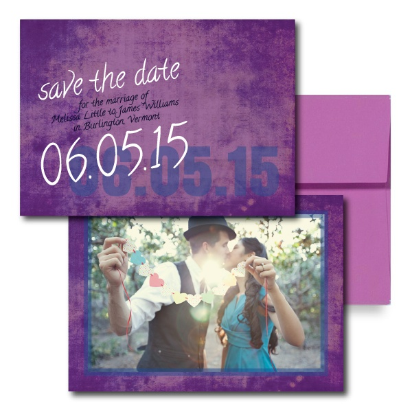 Colorful Canvas Save the Dates, Purple Save the Dates, Modern Save the Dates, Fun Save the Dates