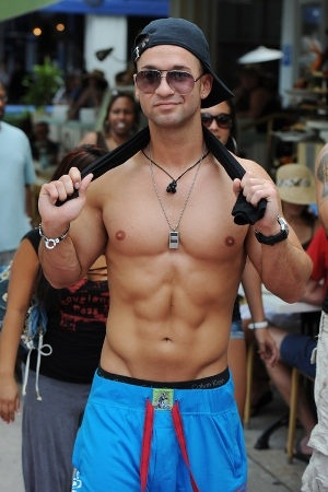 Mike 'The Situation' Sorrentino. even though he's a douchebag i like him lol