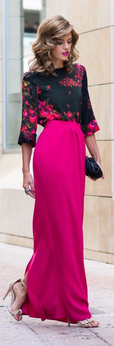 Best 25  Pink maxi ideas on Pinterest | Peach maxi skirts, Maxi ...