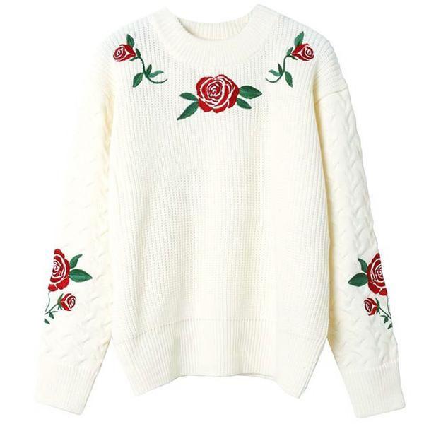 Rose Knit Jumper