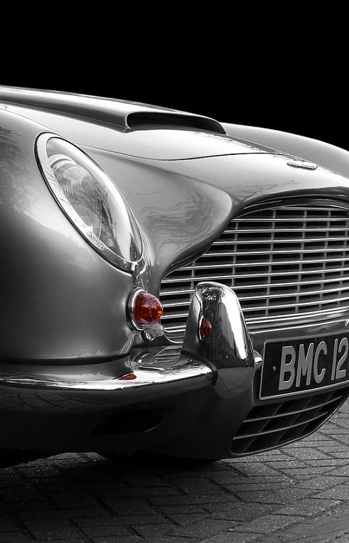 """Aston Martin DB5 , most famous James Bond's car also used by last James Bond, played by Daniel Craig , in last movie """" Skyfall """""""