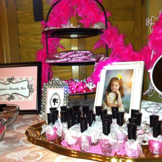 "Megan's 7th Birthday Party ""Beauty Bar"" 7th birthday"